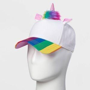 Rainbow Pride Unicorn Baseball Hat Vegan Fur Rare
